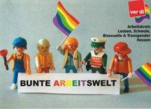 eine Lego-Regenbogen Familie