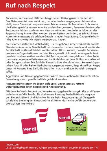 Seite 2 des Demoaufrufs für den 24.2..Mehr Respekt für Retter.