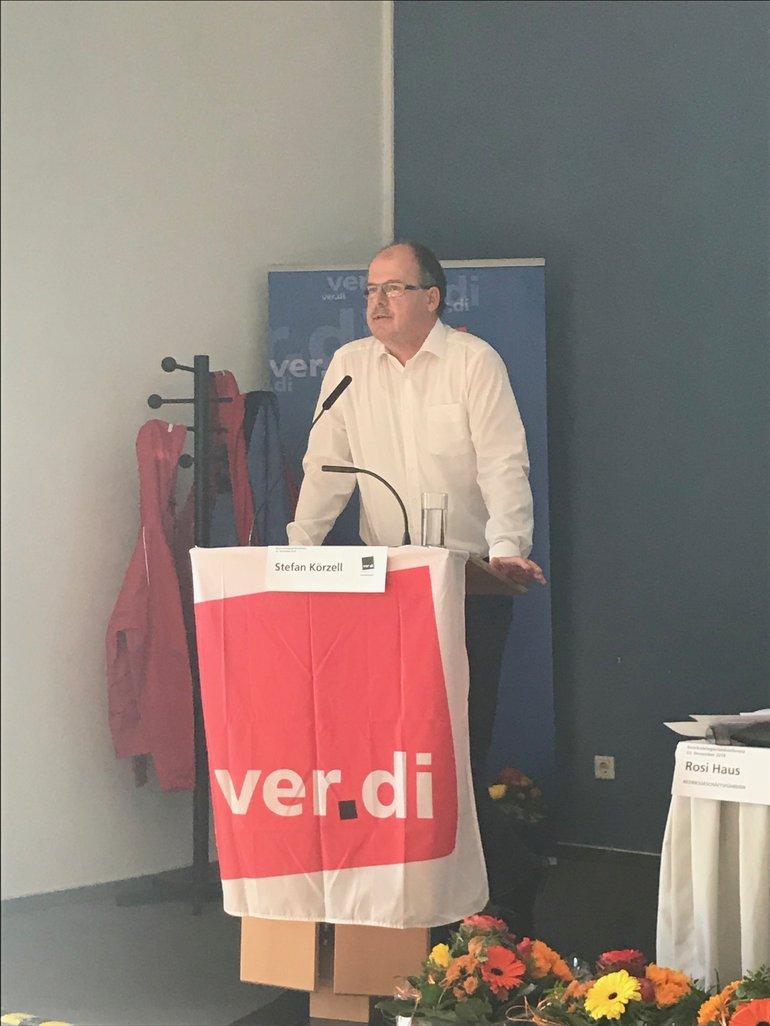 Das DGB-Bundesvorstandsmitglied Stefan Körzell