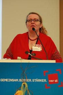Ellen Maurer am Rednerpult