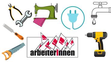 Logo mit Word-Bildmarke ArbeiterInnen