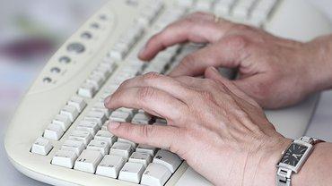 Schreiben an der Bildschirmtastatur, Kontakt