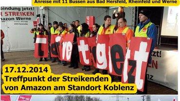 Amazon: Treffpunkt der Streikenden in Koblenz