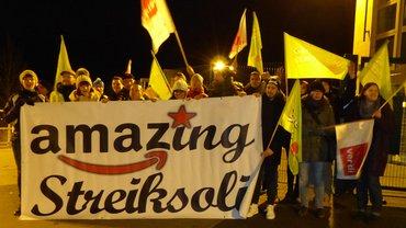 Amazing Streiksoli bei Amazon in Bad Hersfeld