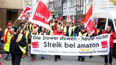 Streik bei Amazon in Bad Hersfeld am 29.10.2014