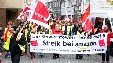 Streik bei Amazon in Bad Hersfeld am 29.10.2014