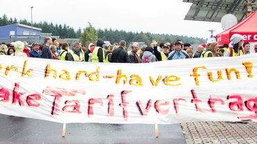 Streik bei Amazon in Bad Hersfeld am 22.09.2014