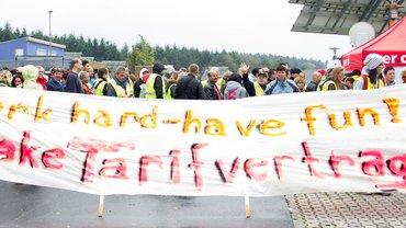 Streik bei Amazon in Bad Hersfeld am 22.09.2014