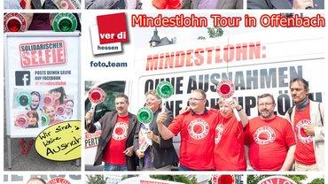 Mindestlohntour in Offenbach