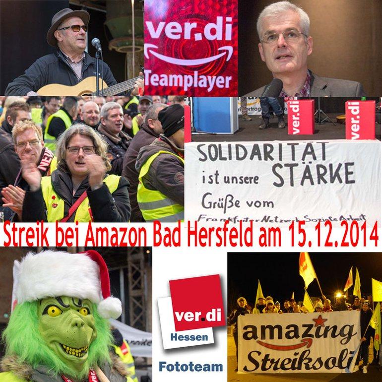 vorweihnachtlicher Streik bei Amazon in Bad Hersfeld