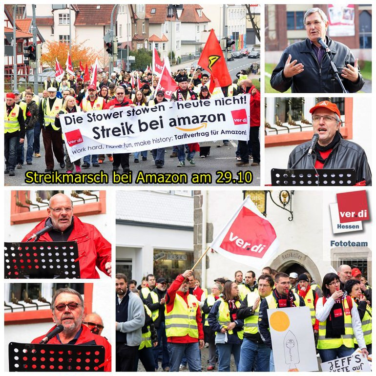 Streik bei Amazon in Bad Hersfeld