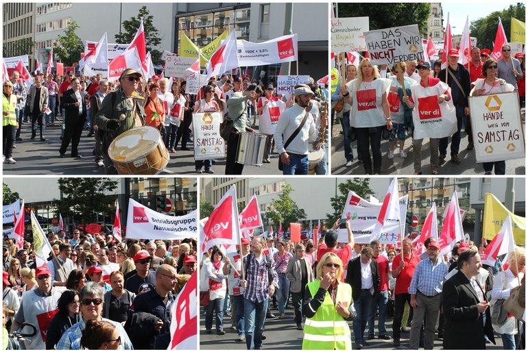 Bankenstreik Frankfurt 27. Juni 2014
