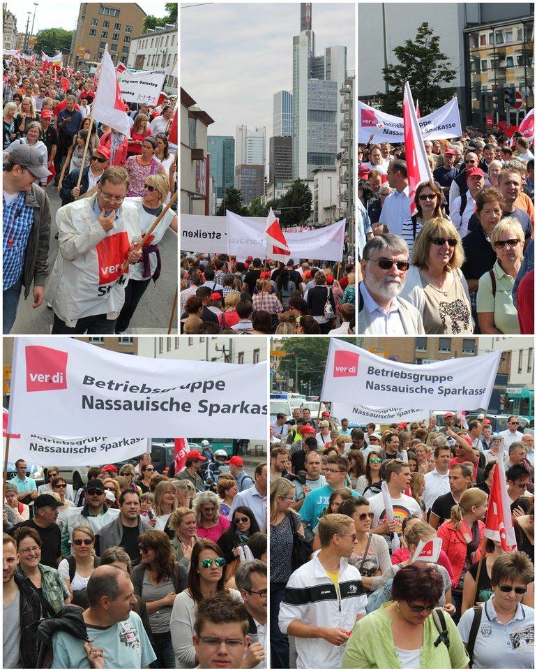 Banken Streik Frankfurt 27. Juni 2014