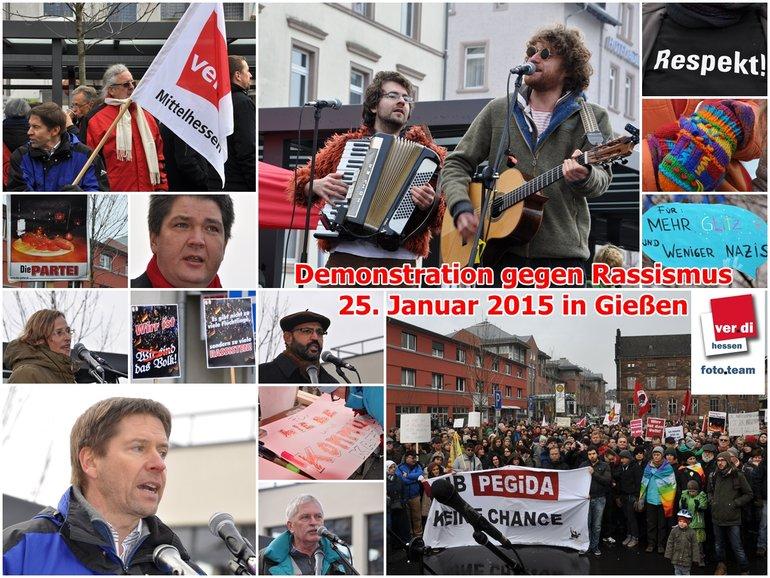 Demonstration für Toleranz und gegen Rassismus