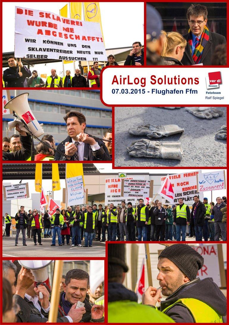 Kundgebung von Air Solutions am 07.03.2015 am Flughafen Frankfurt