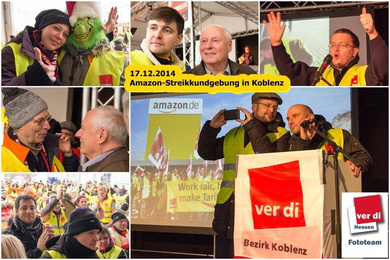 Amazon-Streikkundgebung in Koblenz