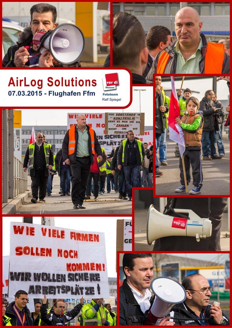 Kundgebung von AirLog Solutions am 07.03.2015 am Flughafen Frankfurt