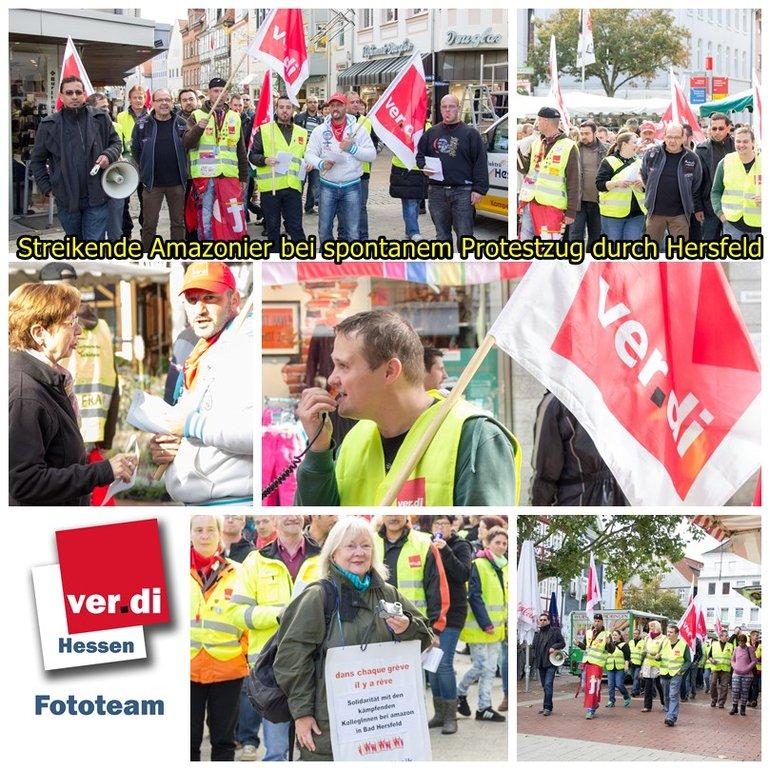Streik bei Amazon in Bad Hersfeld am 23.09.2014