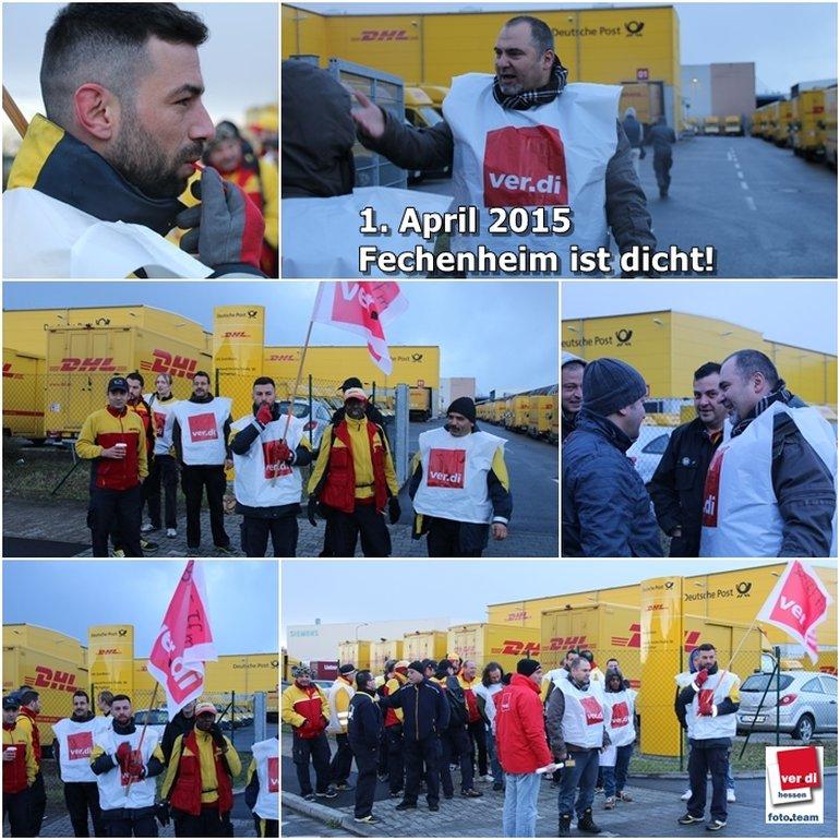 Streikversammlung in Fechenheim