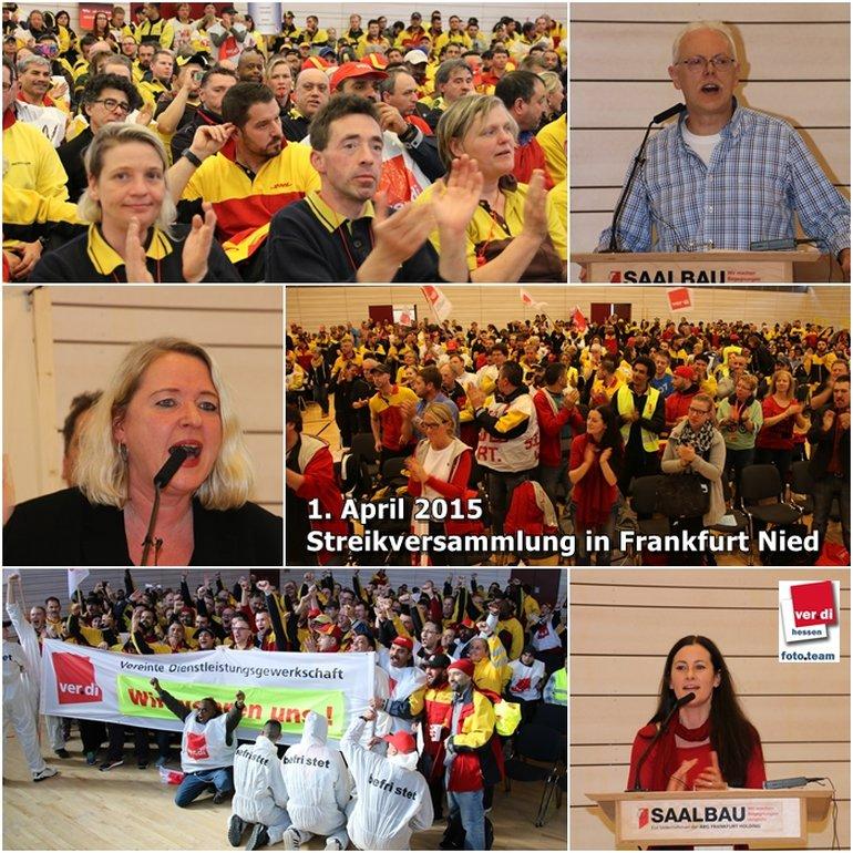 Streikversammlung in Frankfurt Nied