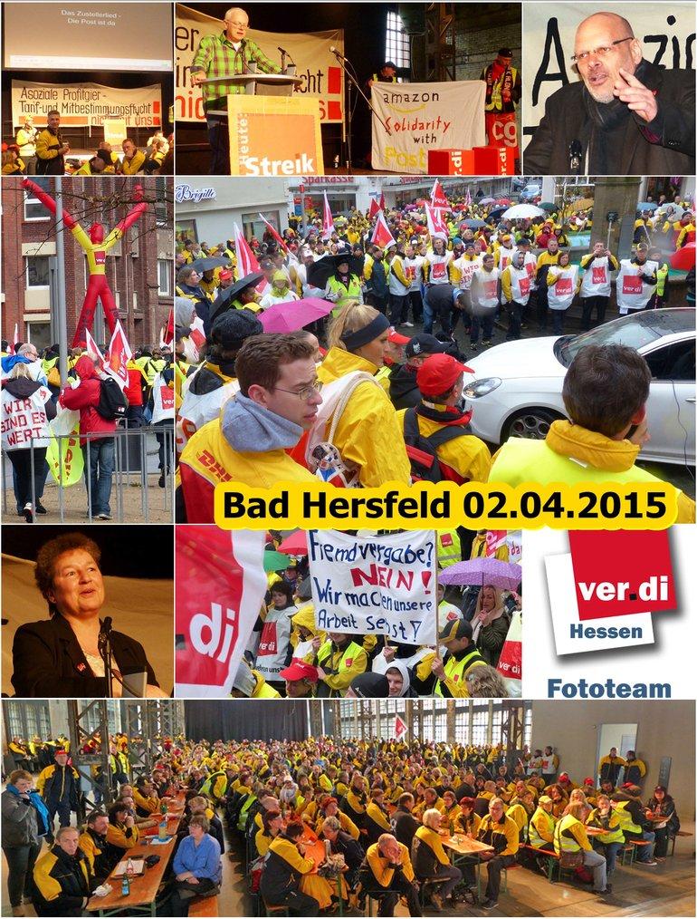 Streikversammlung in Bad Hersfeld