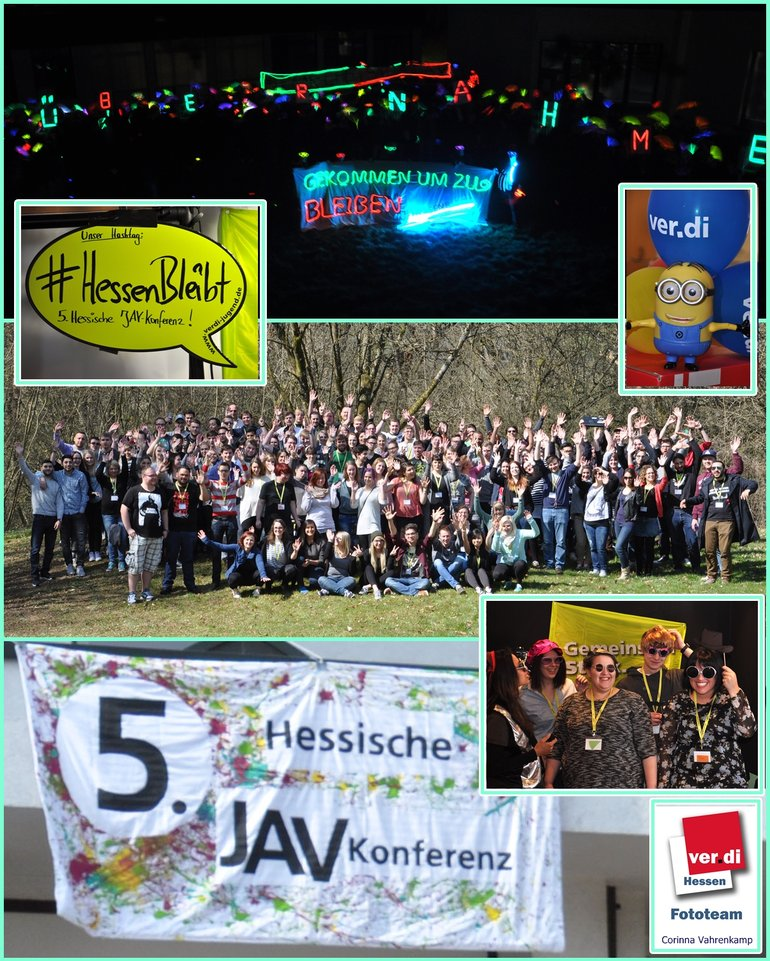 5. Jugendkonferenz vom 8. bis 10. April 2015 in Gladenbach, Collage