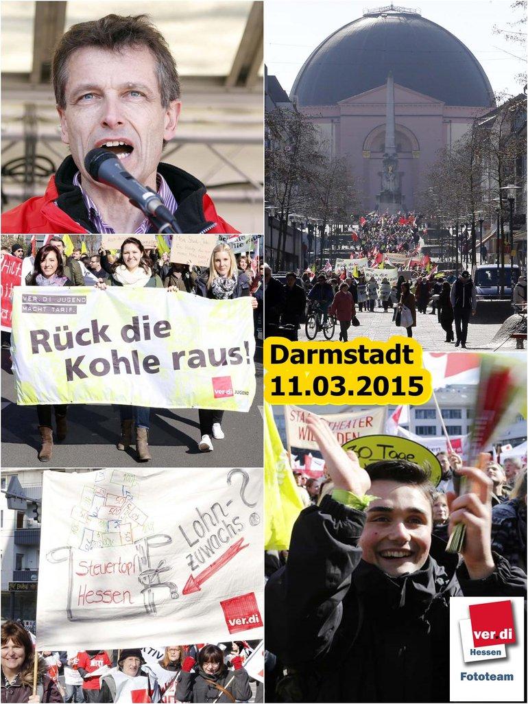 Kundgebung in Darmstadt