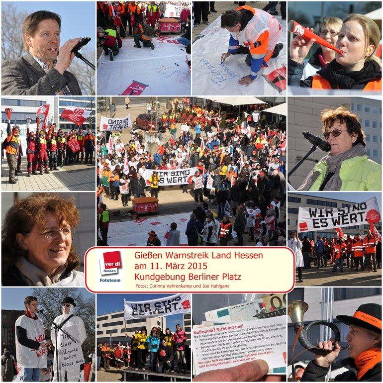 Streikkundgebung in Gießen am 11.3.2015Beschäftigte des Land Hessen